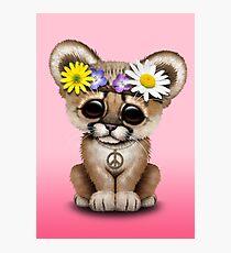 Cute Cougar Cub Hippie Photographic Print