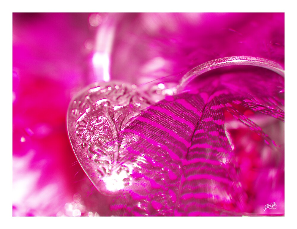 pink feathery valentine..love pink by jakwak