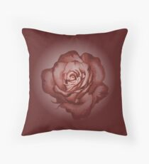 Rimmed rose (pink) Throw Pillow