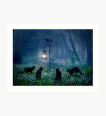 Lámina artística Los gatos de brujas