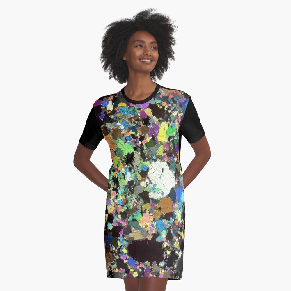Peridotit Dünnschnitt T-Shirt Kleid