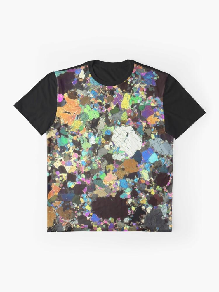 Alternative Ansicht von Peridotit Dünnschnitt Grafik T-Shirt