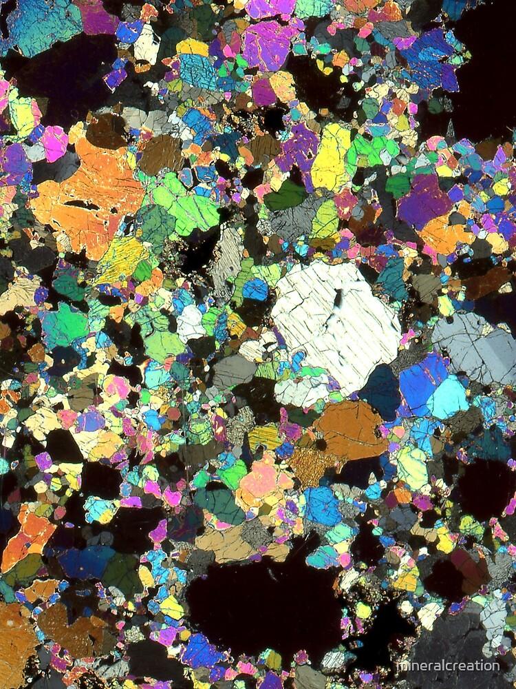 Peridotit Dünnschnitt von mineralcreation