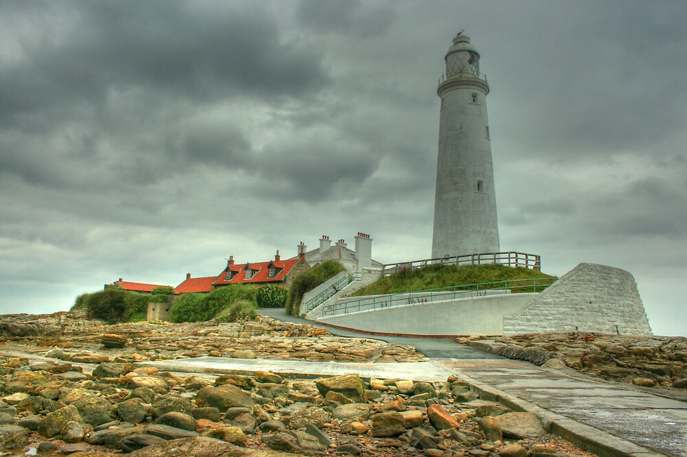 Lighthouse at Low Tide by Richard Shepherd