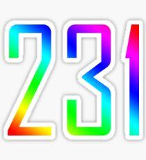 231 - Area Code Wearables Sticker