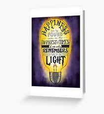 Turn on the Light - Purple Greeting Card