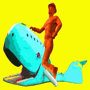 The Tulsa Driller Rides the Blue Whale by zandozan