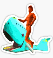 The Tulsa Driller Rides the Blue Whale Sticker