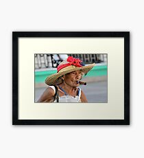 Cuban Lady Framed Print