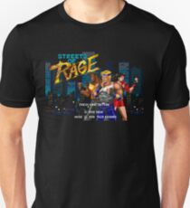 Streets of Rage (Genesis) Title Screen T-Shirt