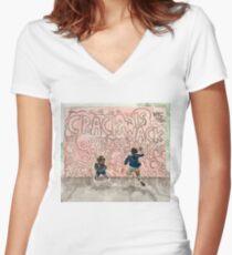 Crack Is Wack Women's Fitted V-Neck T-Shirt