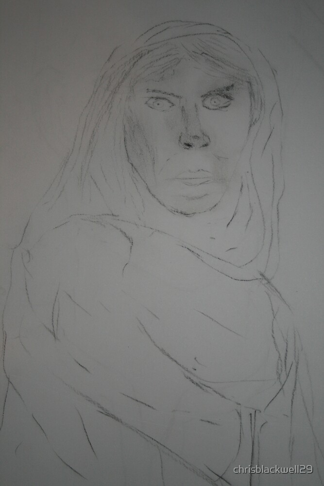 charcoal lady  by chrisblackwell29