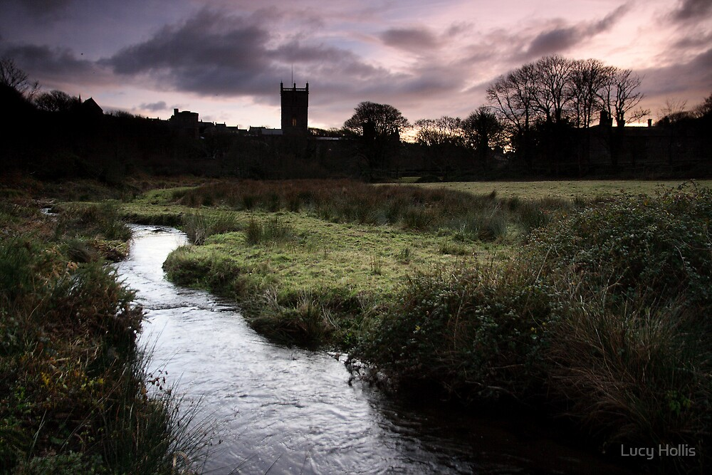 St David's Cathedral in the Distance by Lucy Hollis