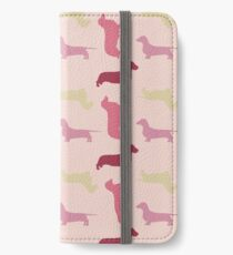 """Cotton Candy"" Dachshund Pattern iPhone Wallet"