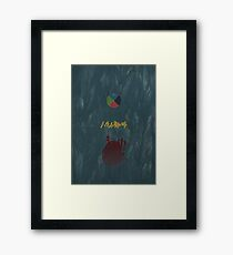 Ghibli Minimalist 'Howl's Moving Castle' Framed Print