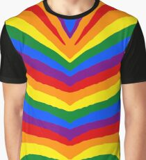 Gay Pride Rainbow Flag Zebra Safari Stripes Graphic T-Shirt