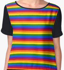Mini Gay Pride Rainbow Flag Stripes Chiffon Top