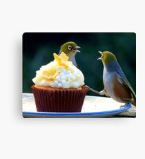 WHAT!! I'm Only Holding The Cupcake Up! - Silver-Eyes  Canvas Print