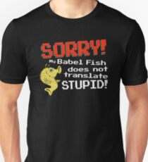 Babel Fish Translator Parody Unisex T-Shirt