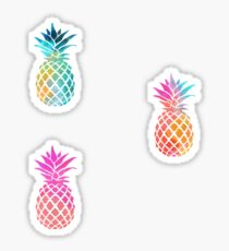3 colorful pineapples Sticker