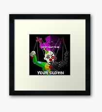 """""""Your Clown"""" Sister Location Framed Print"""