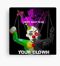 """""""Your Clown"""" Sister Location Canvas Print"""