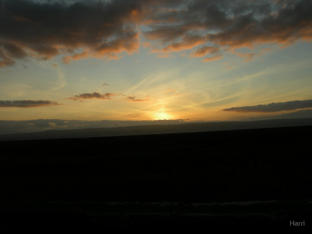 Sunset Over Dee Estuary by Harri