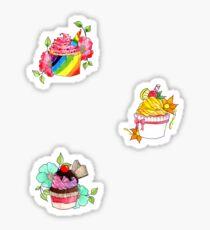 Gourmet Cupcake Stickers Sticker