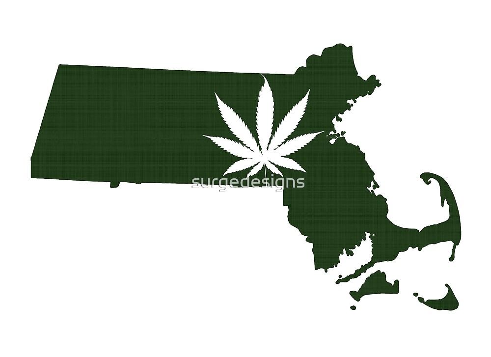 Marijuana Leaf Massachusetts by surgedesigns