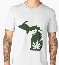 Marijuana Leaf Michigan Men's Premium T-Shirt
