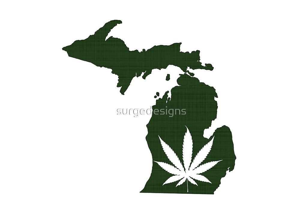 Marijuana Leaf Michigan by surgedesigns