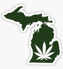 Marijuana Leaf Michigan Sticker