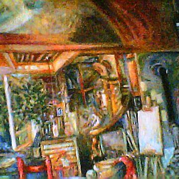 The Studio & Spirits Dream, Third Detail by Hawkski