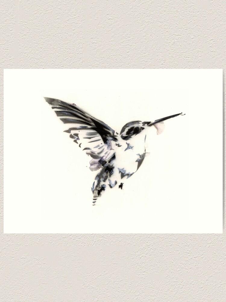 Alternate view of humming bird Art Print