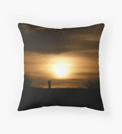 Burning Sunset Throw Pillow