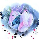 « Combattant surréaliste à l'aquarelle » par cindybarillet