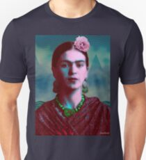 Frida Kahlo with Mountains - Color (Ver 8.5) Unisex T-Shirt