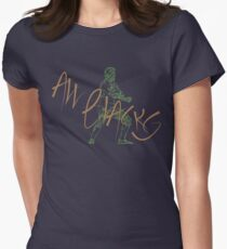 All Blacks Contemporary Design #1 Womens Fitted T-Shirt