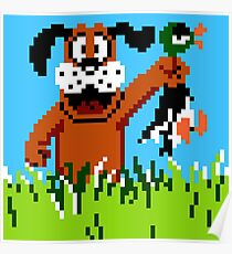 """Retro Retriever"" Duck Hunt Poster"