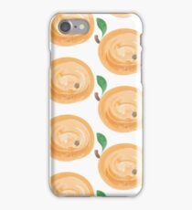 watercolor apricots iPhone Case/Skin