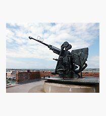 A WW2 Bofors Anti-Aircraft Gun Photographic Print