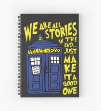 Tardis Stories Spiral Notebook