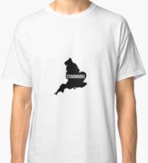 Stourbridge, West Midlands England UK Silhouette Map Classic T-Shirt
