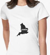 Stourbridge, West Midlands England UK Silhouette Map T-Shirt