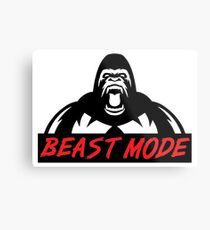 Beast Mode Gym Gorilla Metal Print