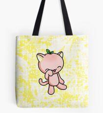 Peach Kitty Tote Bag