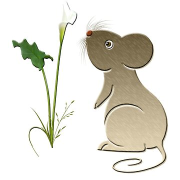 Mouse and Calla Lily by ckeenart