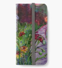 Garden House and Mountains, Acrylic Painting, Dreamy Northwestern landscape iPhone Wallet/Case/Skin