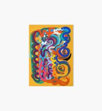 Yellow Abstract Expressionism Pattern Art Art Board