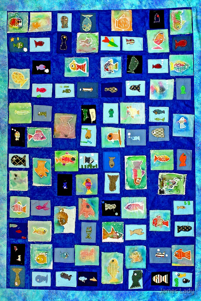 Fish Quilt by James Lady